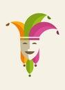Joker card vector illustration of Stock Photography