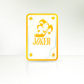 Joker playing card the lucky hand Stock Images