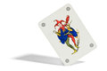 Joker playing card with a picture of a court jester or buffoon found in a pack of cards as a wild in addition to the four Royalty Free Stock Images