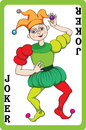 Joker scale hand drawn illustration of a playing card representing the jocker one element of a pack Stock Photography