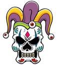 Joker skull vector illustration of Royalty Free Stock Image
