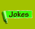 Jokes word means humour and laughs on web meaning Royalty Free Stock Images