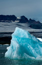 Jokulsarlon blue ice at icelake Stock Images