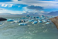 Jokulsarlon glacier lagoon in vatnajokull national park iceland horizontal shot Stock Photo