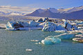 Jokulsarlon glaicer lagoon in iceland Stock Photos