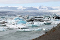 Jokulsarlon ice lagoon melting in south iceland Royalty Free Stock Photos