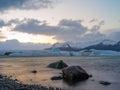 Jokulsarlon iceland site for floating ice bergs Stock Image
