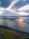 Jokulsarlon iceland site for floating ice bergs Royalty Free Stock Photography