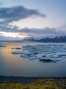 Jokulsarlon iceland site for floating ice bergs Royalty Free Stock Photos