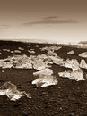 Jokulsarlon iceland site for floating ice bergs Royalty Free Stock Photo