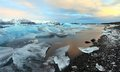 Jokulsarlon lagoon sunrise Royalty Free Stock Photography