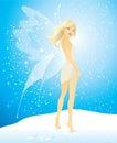 Jolie fille avec des ailes de guindineau Photos stock