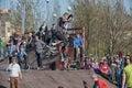 Jolly-jumping Royalty Free Stock Photo