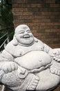 Jolly monk statue