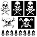 Jolly Roger illustrations Royalty Free Stock Photo