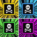 Jolly roger sign Royalty Free Stock Photo