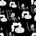 Jolly Roger Skeleton Seamless