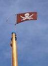 Jolly Roger skull and crossbones pirate flag Royalty Free Stock Photo