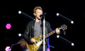 Jon bon jovi performing during the us leg of the because we can tour Royalty Free Stock Images