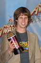 Jon heder actor at the mtv movie awards at the shrine auditorium he won the award for male breathrough performance for his role in Royalty Free Stock Photography