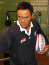 Jonah Lomu at Madame Tussaud's Royalty Free Stock Images