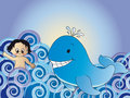 Jonah and the whale Royalty Free Stock Images