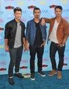 Jonas brothers joe jonas nick kevin at the teen choice awards at the gibson amphitheatre universal city hollywood Stock Photo
