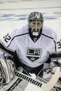 Jonathan quick an image of la kings goaltender during the nhl playoffs Royalty Free Stock Photos