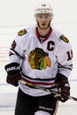 Jonathan toews this image shows chicago blackhawks captain during the nhl western conference finals on june at los angeles Stock Images