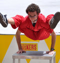 Jonathon Burns, World Buskers Festival Stock Photography