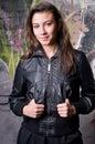 Jong rebellenmeisje Stock Foto's