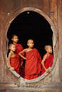 Jonge monniken in myanmar Royalty-vrije Stock Afbeelding