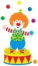 Jongleur de clown de cirque Images libres de droits