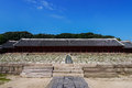 Jongmyo in seoul korea is the oldest confucian royal shrine located it was designated as a world cultural heritage site on Stock Images
