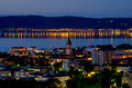 Jonkoping at night. Sweden Royalty Free Stock Photo
