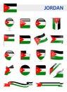 Jordan Flag Vector Set