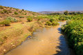 The jordan river view of in north of israel near sea of galilee Royalty Free Stock Image