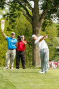 Jordan spieth at the memorial tournament on th fairway Stock Image