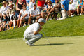 Jordan spieth at the memorial tournament on th green Royalty Free Stock Photo