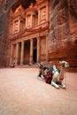 Jordan: Treasury in Petra Royalty Free Stock Photo