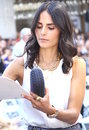 Jordana brewster signs autographs in hollywood Royalty Free Stock Images