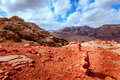 Jordanian desert scenic view of at petra Stock Photography