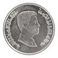 Jordanian piastre coin Royalty Free Stock Photo
