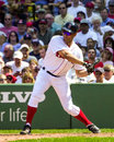 Jose cruz jr boston red sox outfielder swings at a pitch Royalty Free Stock Photo