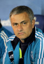 Jose mourinho of real madrid during the spanish league match between espanyol and at the estadi cornella on may in Royalty Free Stock Images
