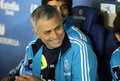 Jose mourinho of real madrid during the spanish league match between espanyol and at the estadi cornella on may in Stock Image