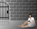 Joseph in jail biblical illustration of inpired by the bible passage of genisis Stock Photography