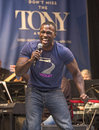 """Joshua henry two time tony winner sings let it sing from violet at """"stars in the alley """" a free outdoor concert produced by Stock Images"""