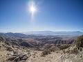 Joshua Tree National Park. Keys View. San Andreas Fault. Royalty Free Stock Photo