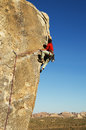 Joshua Tree Rock Climbing Royalty Free Stock Photo